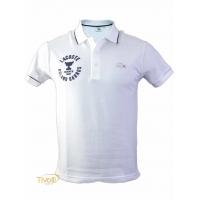Camisa Polo Lacoste Sport Roland Garros Paris. Branca e Azul Marinho 107ef53653