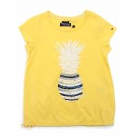 507138d8f6 Camiseta Tommy Hilfiger Pineapple. Infantil Amarela