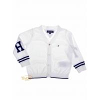24614718f8 Cardigan Tommy Hilfiger Lewey Baby Boy. Infantil Branco e Azul Marinho