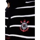 Blusa Tricot Corinthians Listrada Preta e Branca. Código  CR002G 706dc3fc7955d