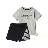 Conjunto Infantil Adidas EQT Set. Cinza e Preto 3b7b0c9111f2d