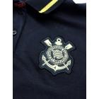 Camisa Polo Ouro Infantil Corinthians Natural Sports Preta e Dourada.  Código  82104 e1c81166c82b0