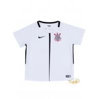 Camisa Corinthians I Torcedor 2017 18 Infantil Nike. Branca e Preta b33e4ef90b180