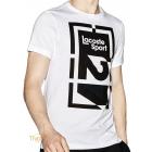 Camiseta Lacoste Sport Technical Jersey Abstract 27 Branca e Preta. Código   TH8944 66d487cfc1
