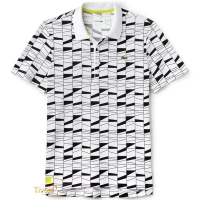 Camisa Polo Lacoste Sport Fancy. Branca e Preta d20470cd06