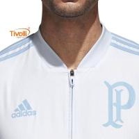 92970e4144 Jaqueta Palmeiras Pré-Jogo 2018 Adidas Azul Clara Masculina. Código  BR8167
