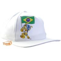 Boné Fuleco com a Bandeira Brasileira Meltex. - Mega Saldão aa79b0f384062