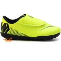 Chuteira Nike JR. Vapor 12. Club Velcro Infantil TF Society 9a6017d443cb7