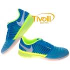 b02e73f0a42b2 Chuteira Nike Lunargato II > Azul/Limão - Ref: 580456-413 >