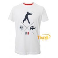 Camiseta Lacoste. Roland Garros Masculino Branco TH9288 90d7fe720b