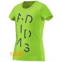 Camiseta Adidas infantil. Wardrobe Lineage Verde 9256027b76f42