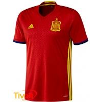 e864dbb1a2cb7 Camisa Espanha I infantil Adidas Euro 2016. - Mega Saldão