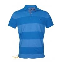 5560ecea12 Camisa polo Tommy Hilfiger. azul turquesa listrada