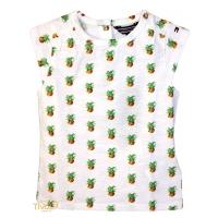 54155c5085 Camiseta Tommy Hilfiger Tali Mini CN Knit Infantil. Branca estampada
