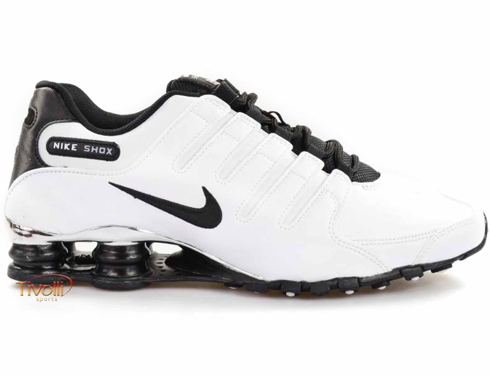 Tênis Nike Shox NZ Premium   Branco e Preto   44b832db9ce95