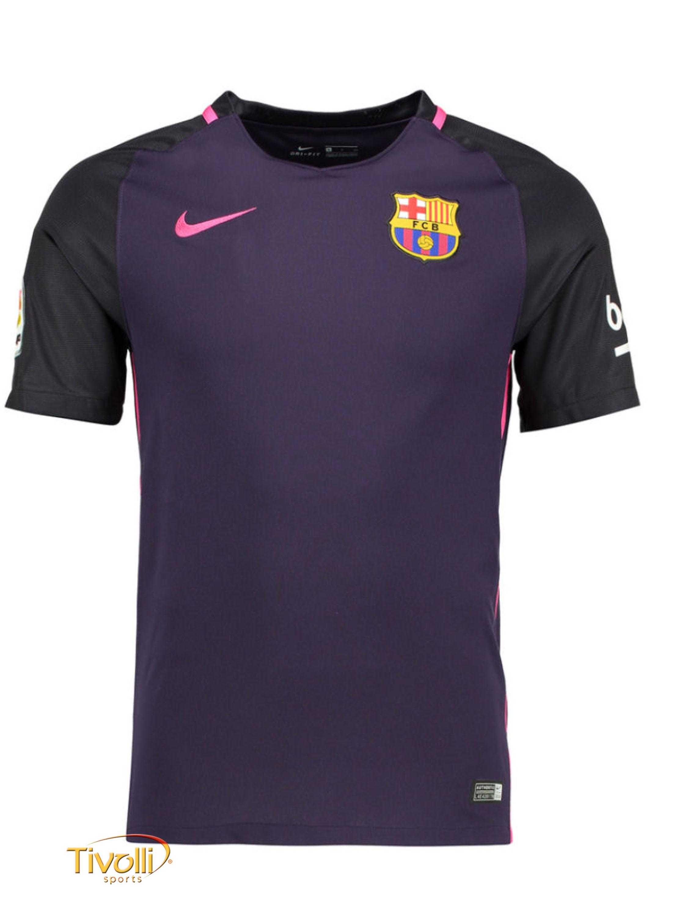 fe40f4e56dbb6 Camisa FC Barcelona II Away Nike 2016 17 Infantil   - Mega Saldão