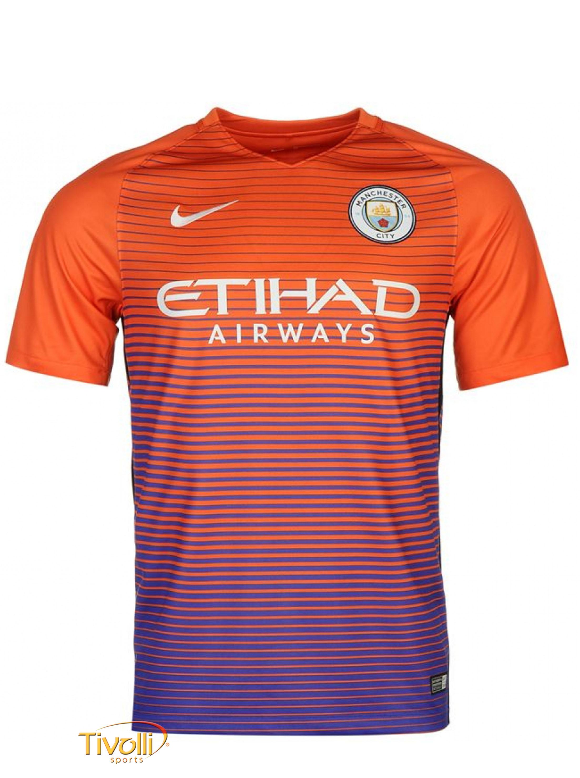 cf6fdadaa1b55 Camisa Manchester City III 2016 17 Nike Infantil   - Mega Saldão