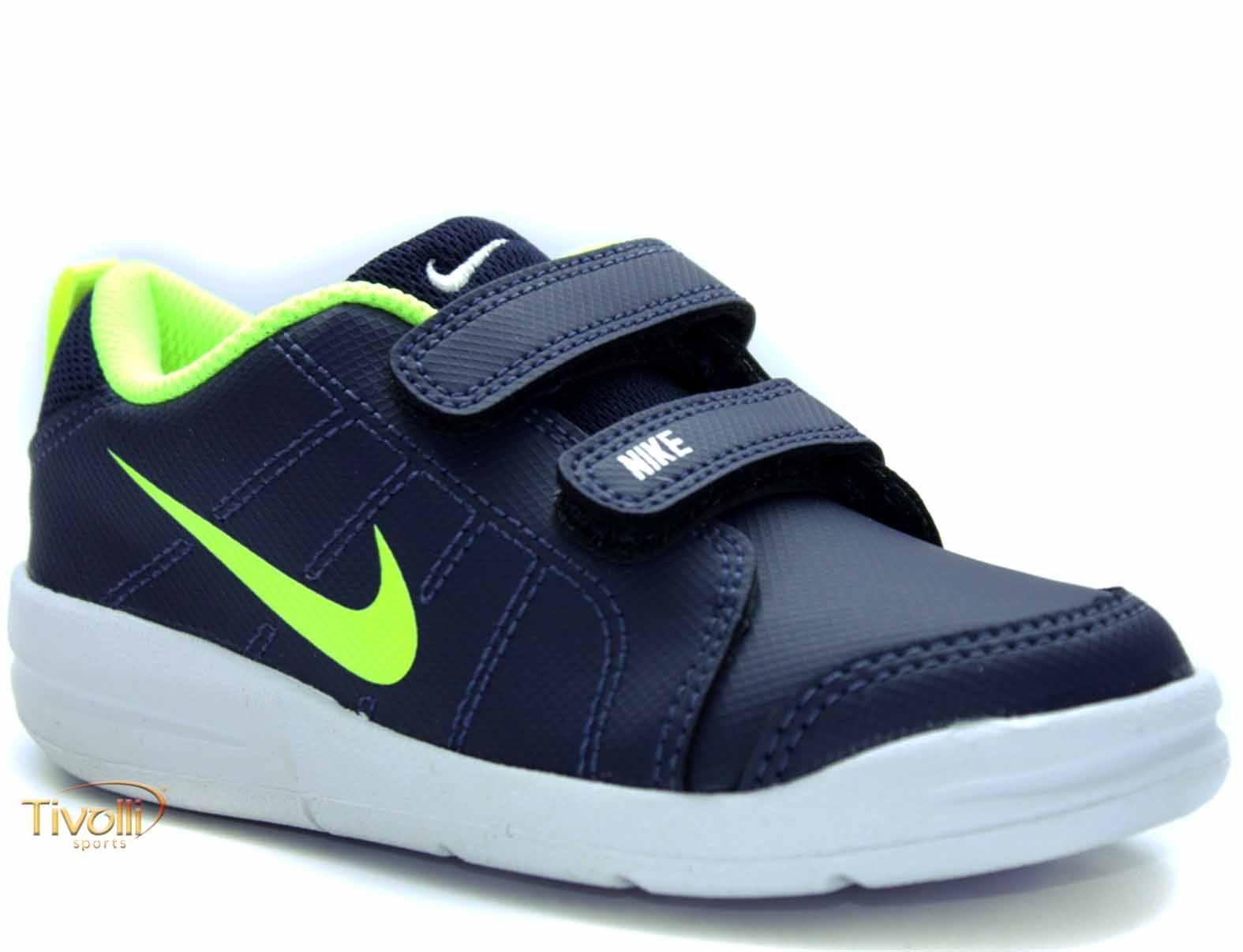 02f9770c114 Tênis Nike Pico LT (PSV) - Tamanhos 27 ao 33 Infantil Azul Marinho e Verde  Flúor