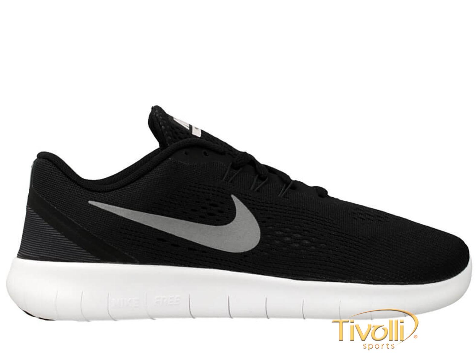 Tênis Nike Free RN GS   Preto e Branco   1f2e4126e10cf