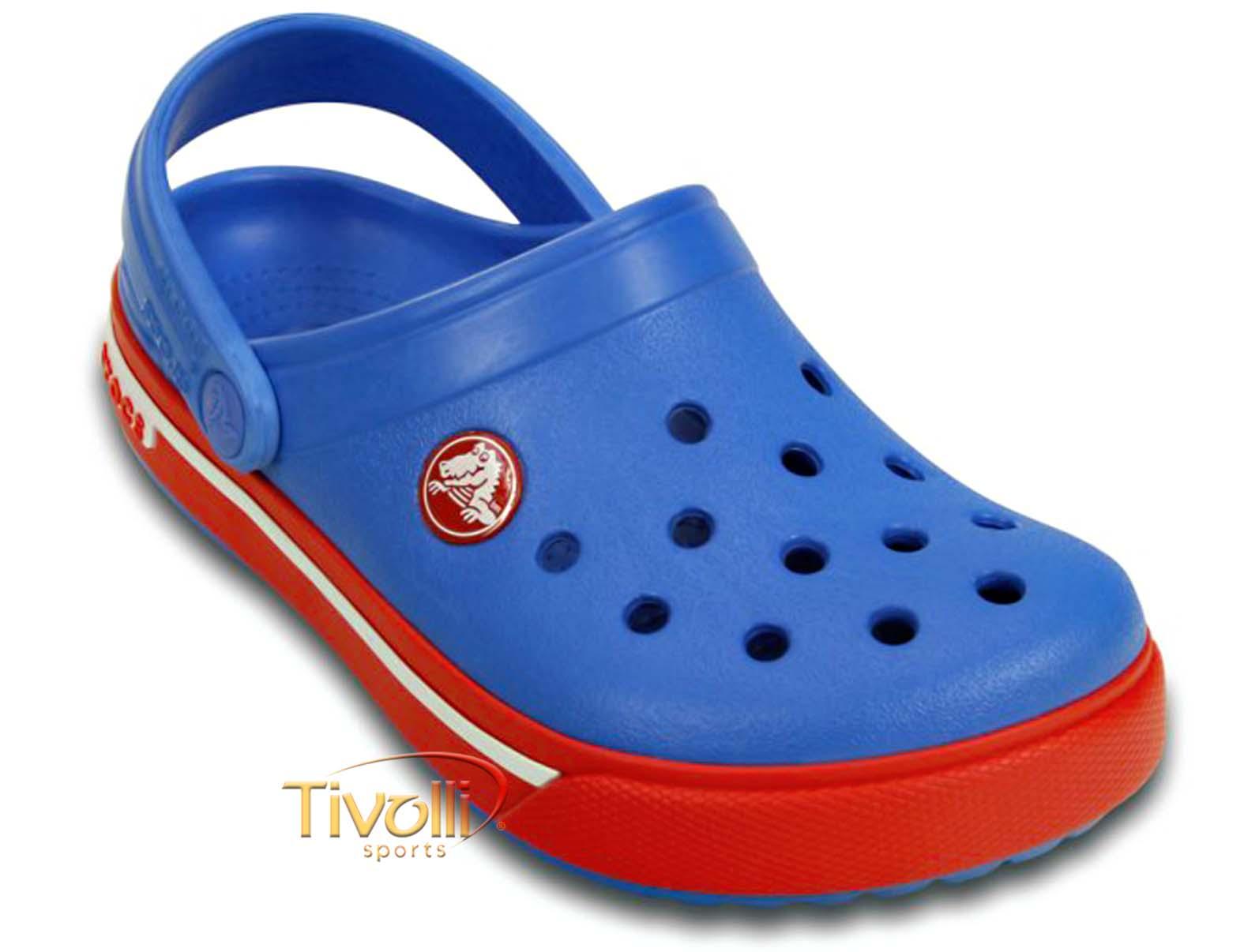d669988e35 Sandália Crocs Crocband II.5 Kids Clog Varsity   Infantil Azul ...