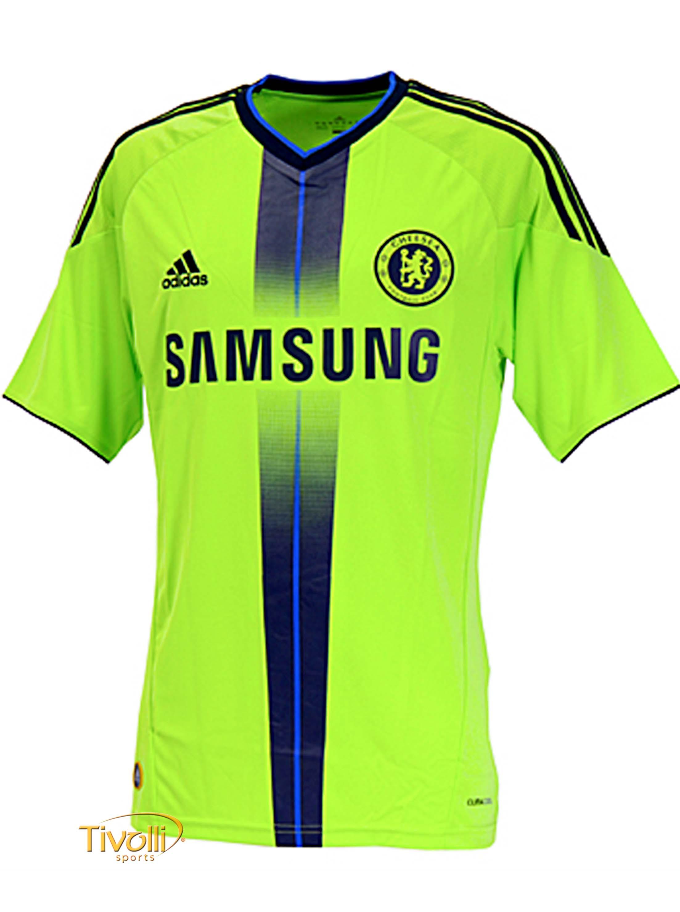 Black Friday - Camisa Chelsea III 2010 2011 Adidas   Verde Limão ... 581f7e486c51e