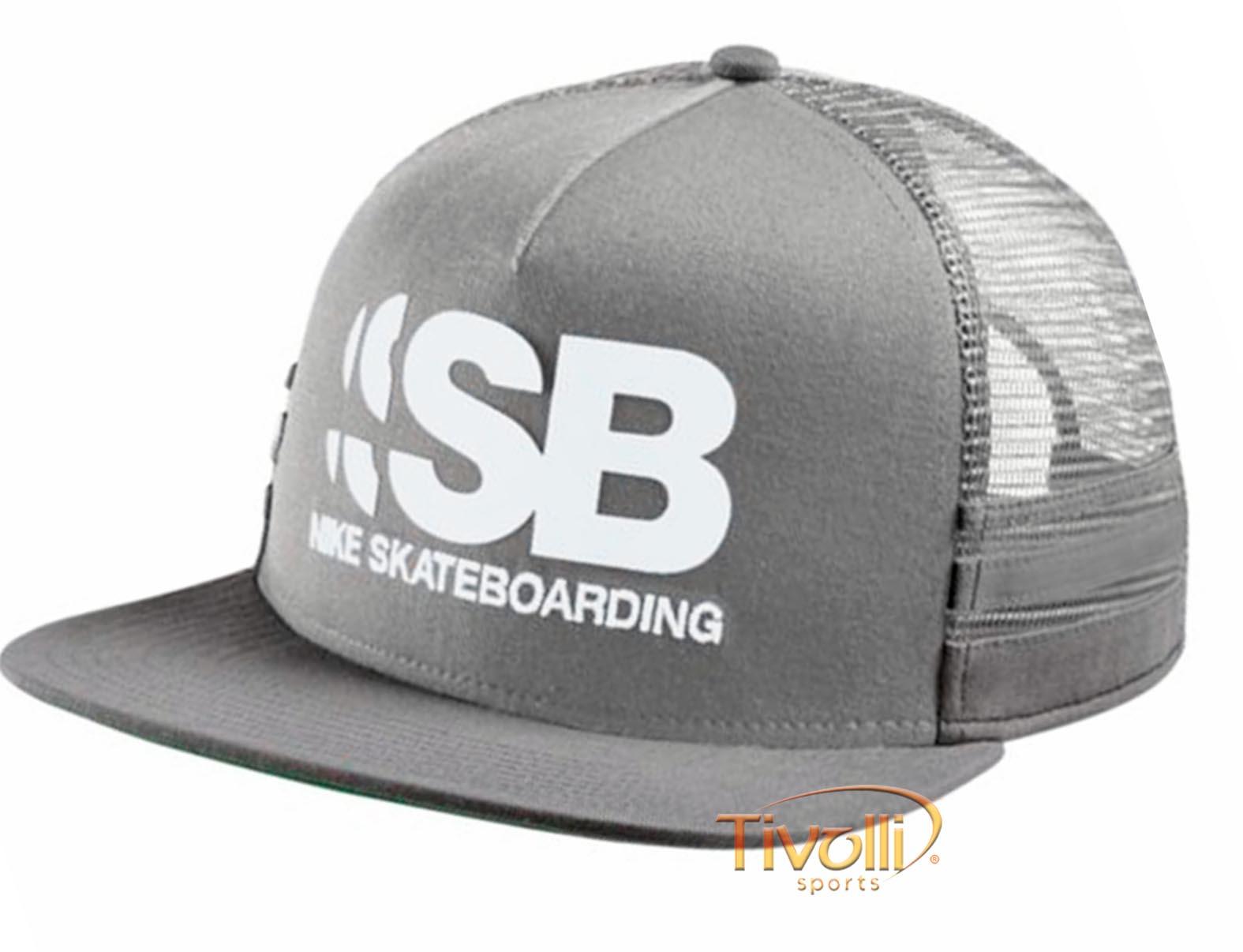 30482e534d Boné Nike SB Cut Trucker Adjustable > Cinza Claro e Escuro >