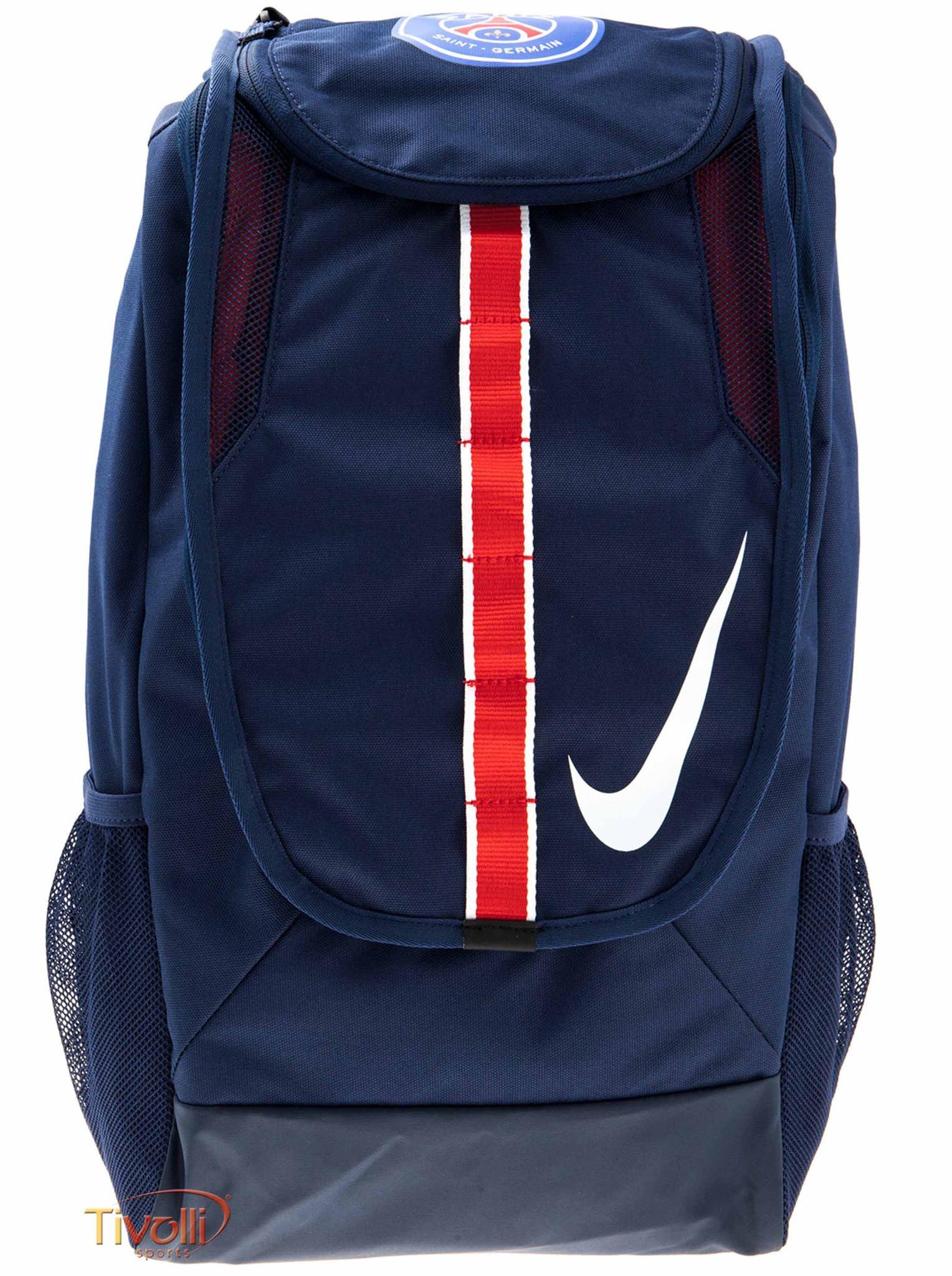 edc1ac905 Mochila Nike Paris Saint-Germain Allegiance Shield Compact Azul Marino,  Branco e Vermelho
