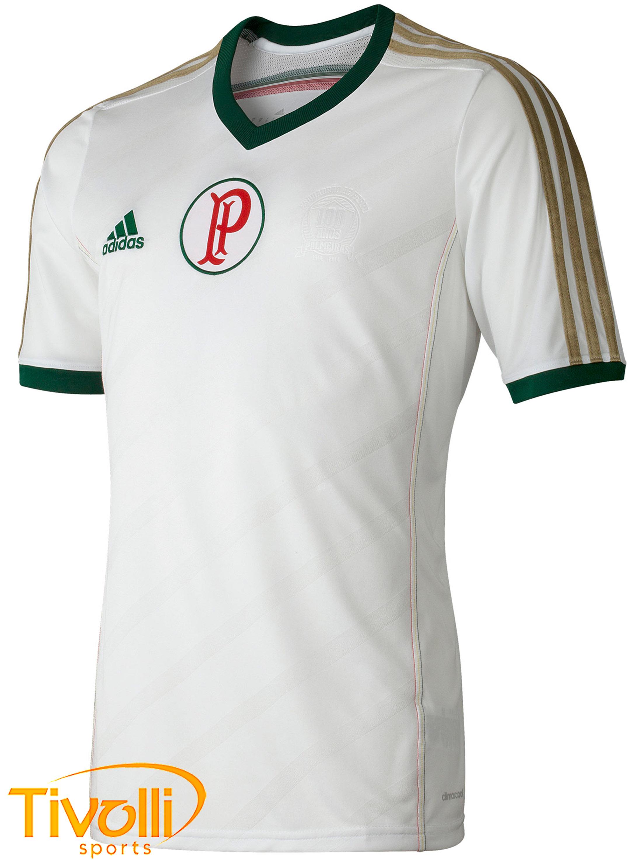 54364f6d49 Camisa Palmeiras ll Away 2014 Infantil Adidas   Branca