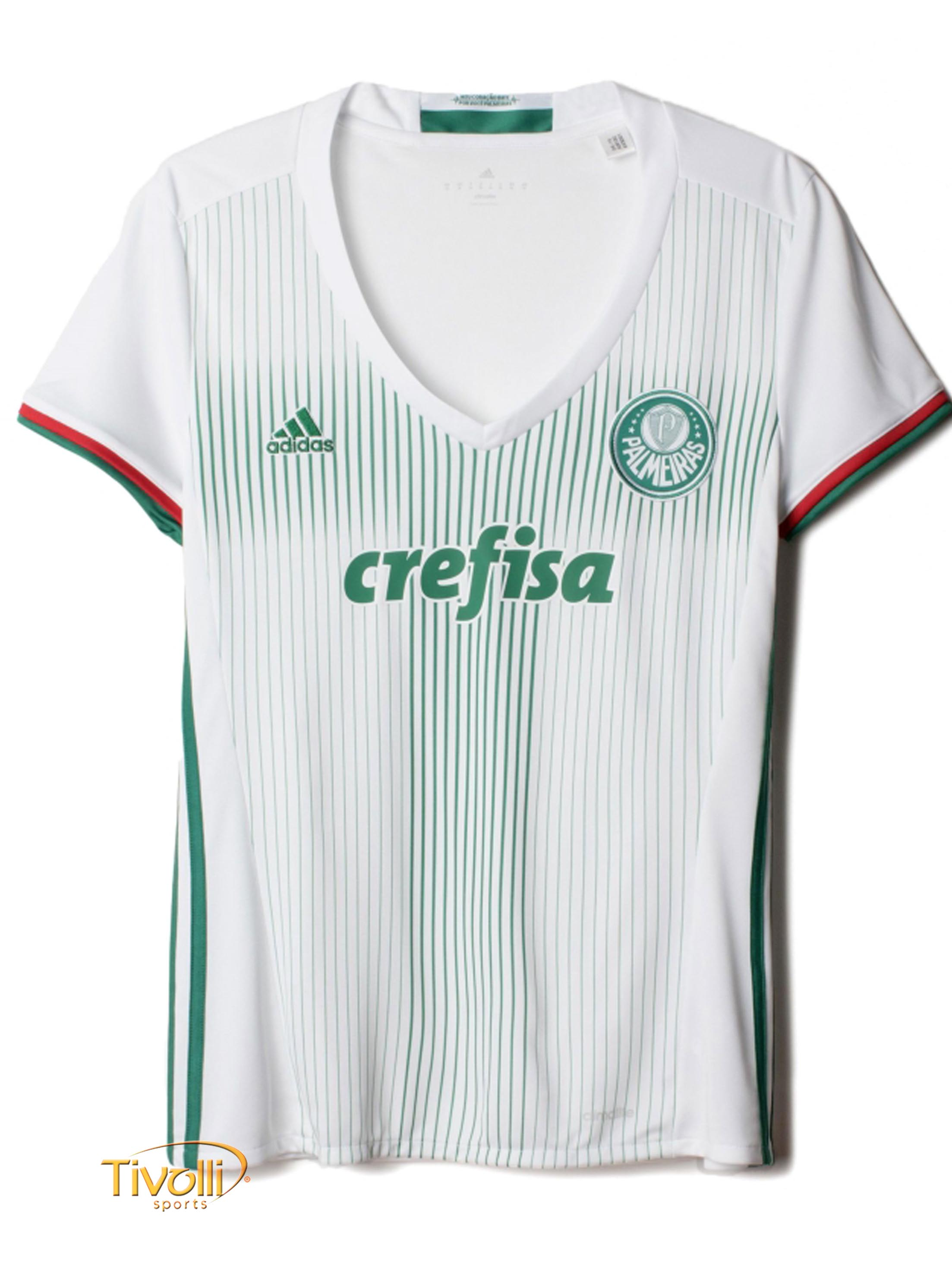 03a4951d32 Camisa Palmeiras II Away 2016 17 Adidas   Feminina - Mega Saldão
