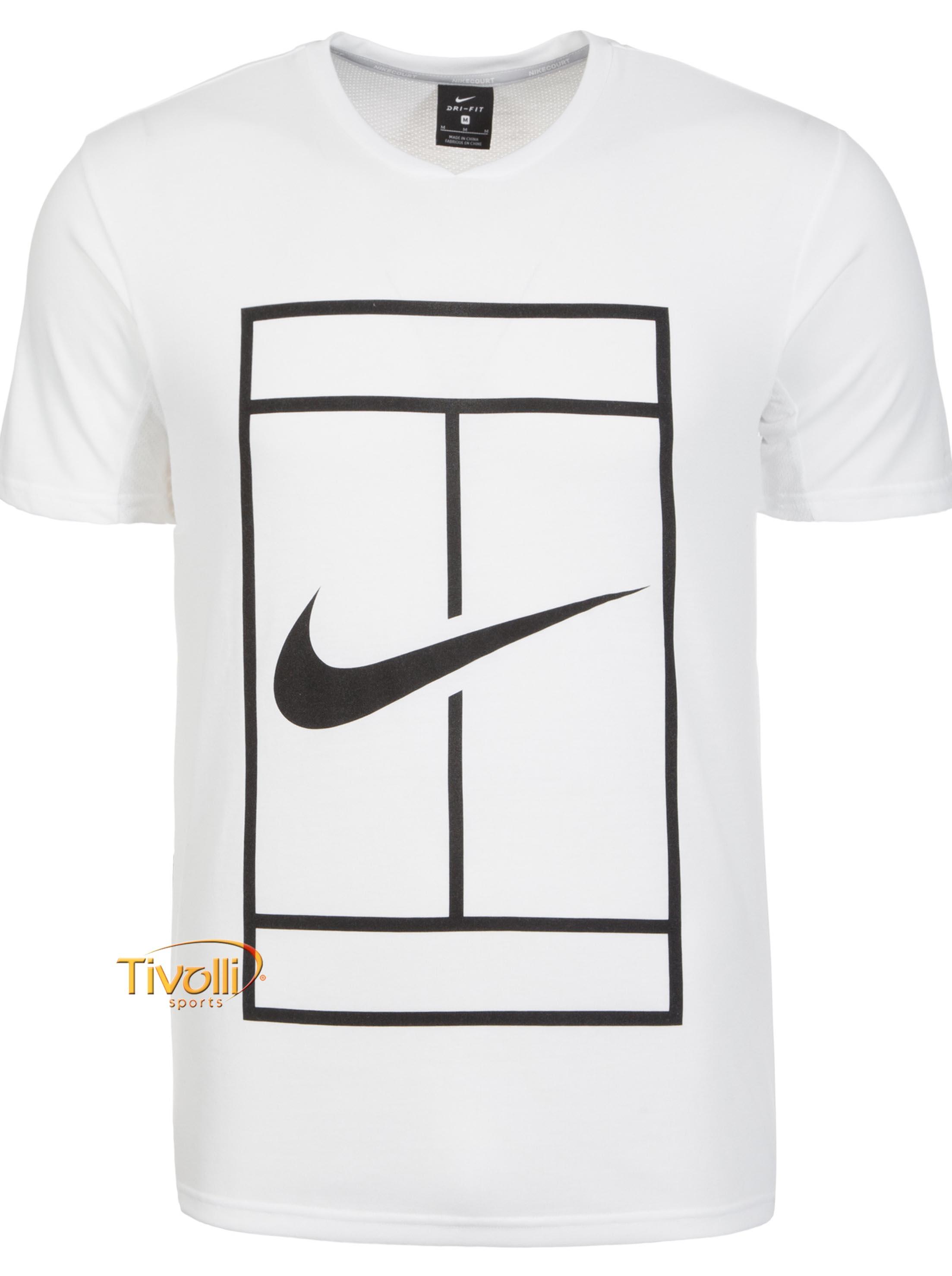 a2dfc29c2a ... SPORTS  33fae34d613 Camiseta NikeCourt Dry Top Baseline Branca e Preta  ...