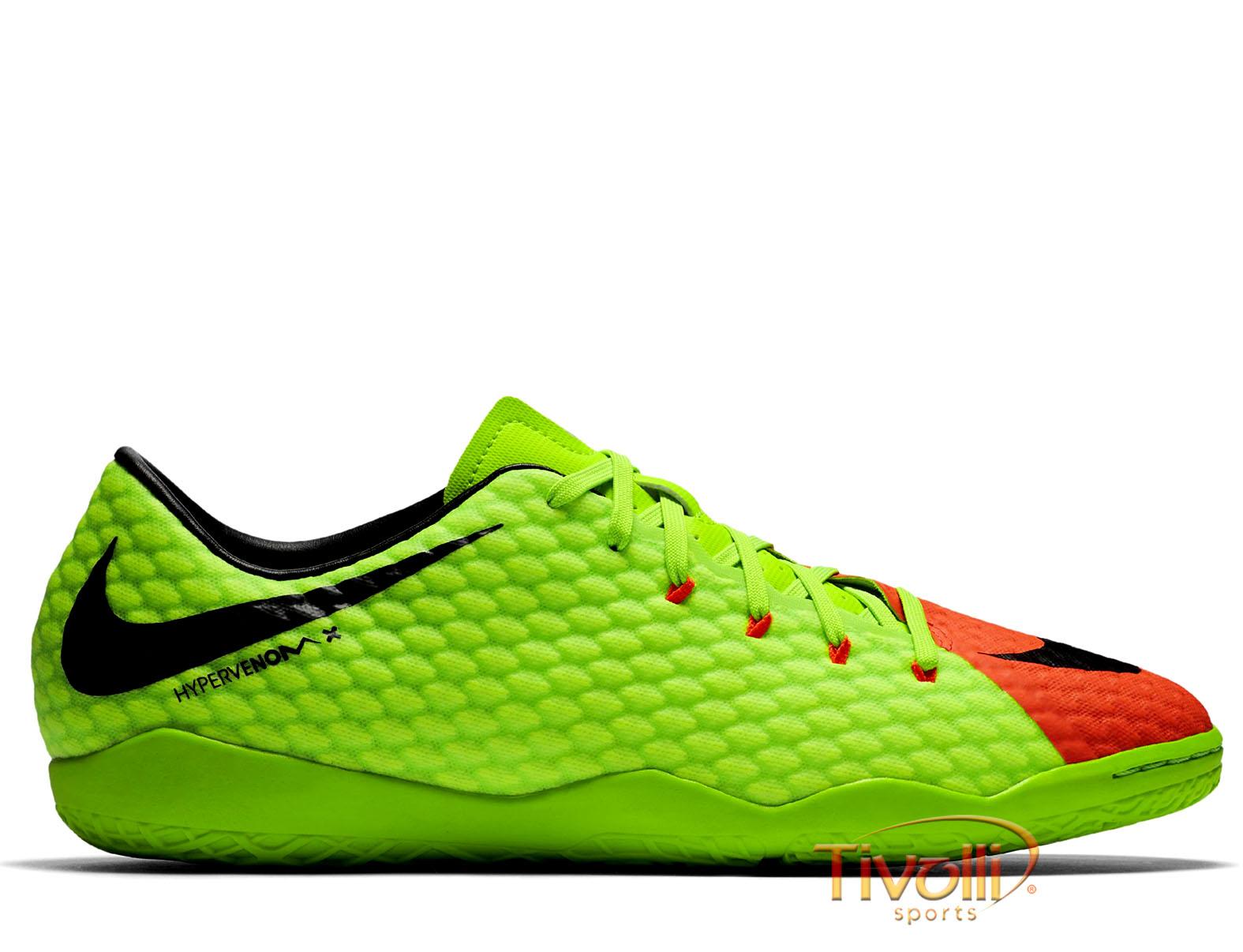 Chuteira Nike HypervenomX Phelon III IC Futsal Infantil     b918466ff87fa