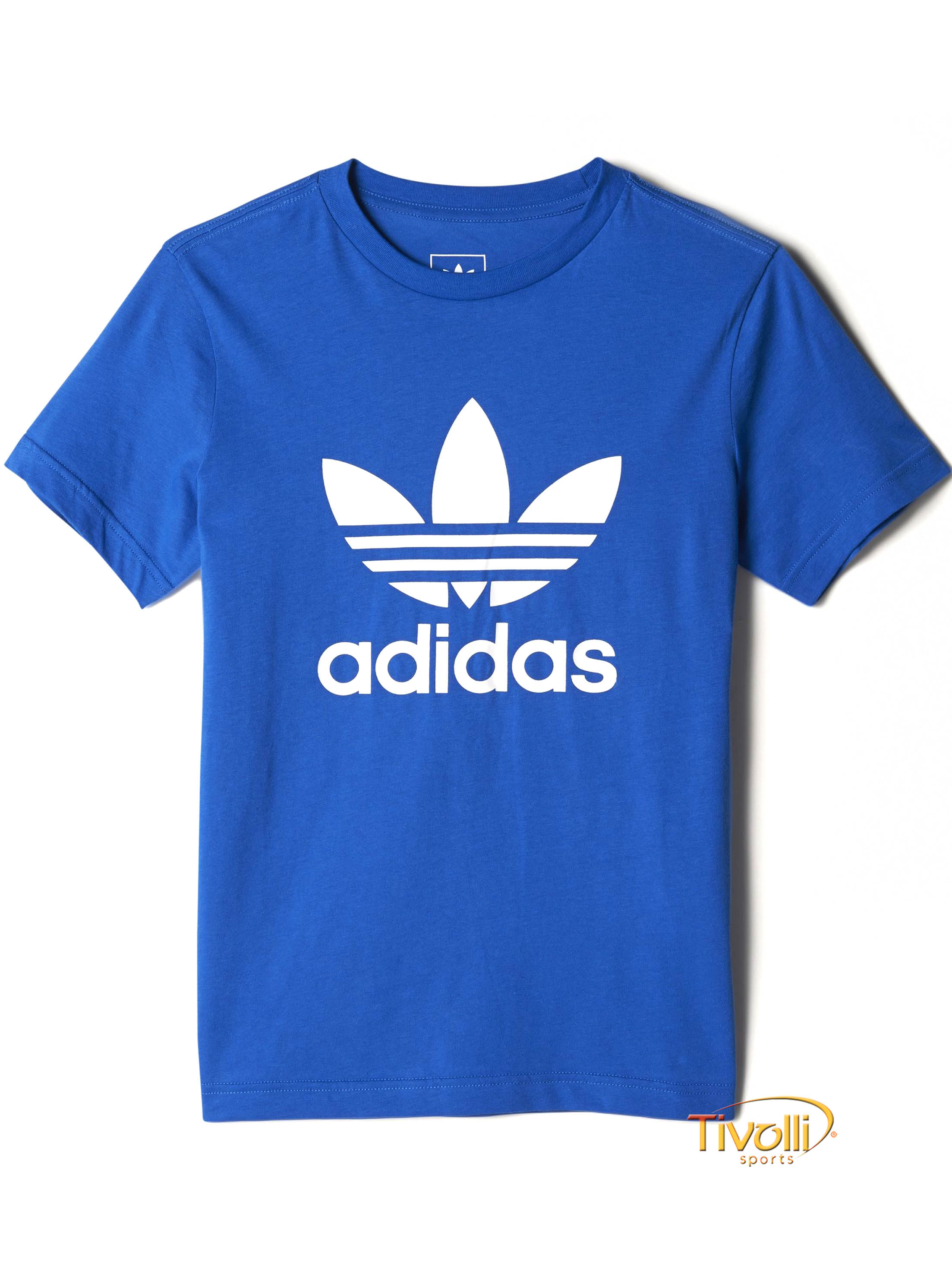 5cd25cbb37 Camiseta Infantil Adidas Trefoil   Azul Royal
