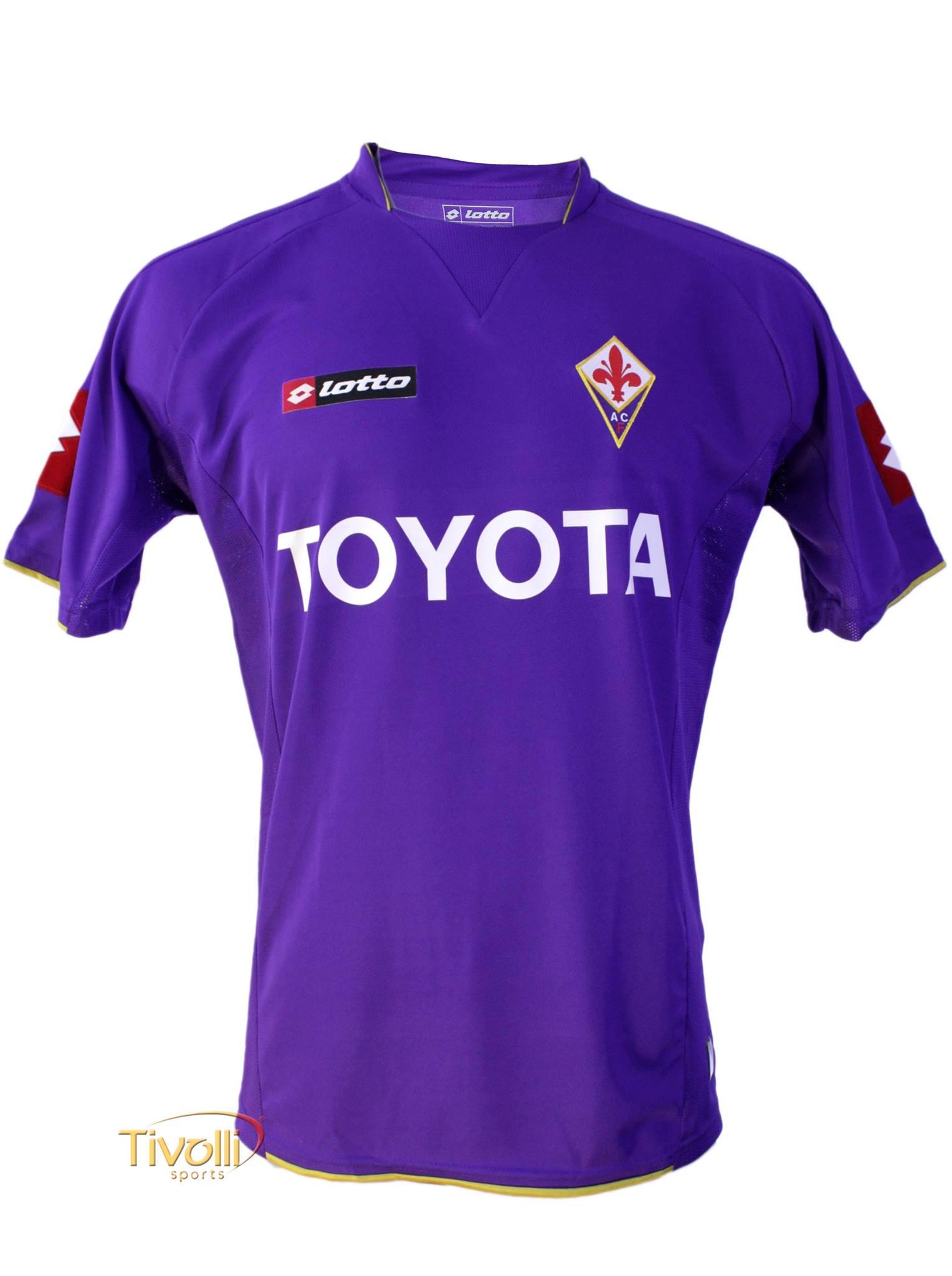 d7d84e18b Black Friday - Camisa ACF Fiorentina I Home Lotto   Roxa