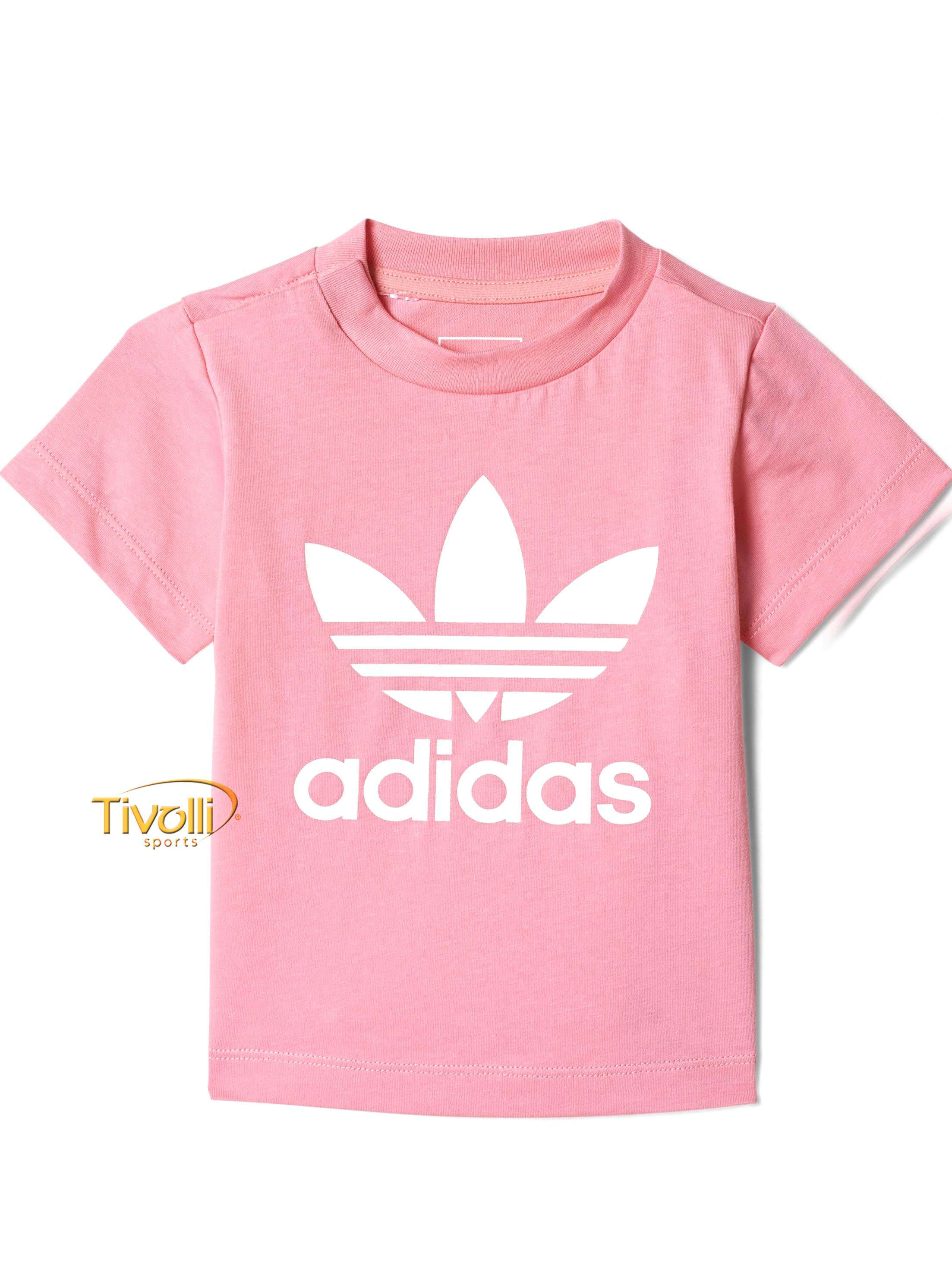8012ff54ae Camiseta Infantil Adidas Trefoil   Rosa