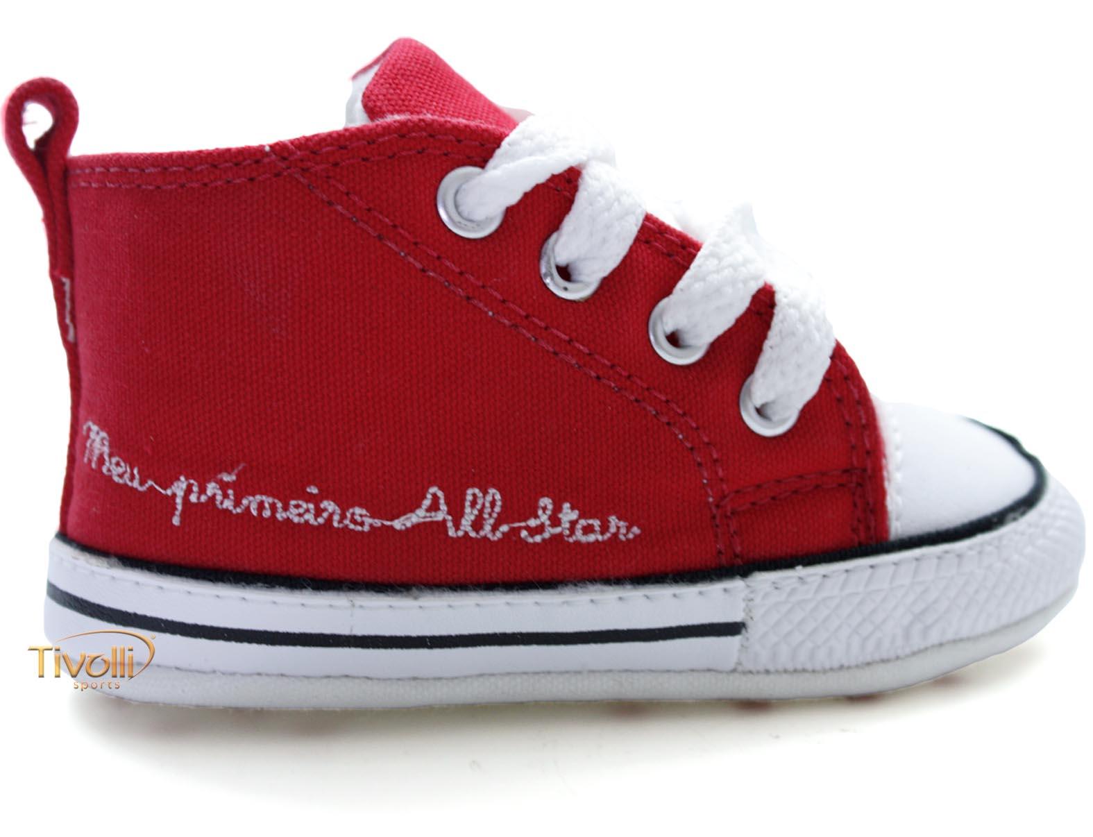 7f6cd5dd843 Tênis All Star Converse My First All Star Baby - Meu Primeiro All Star -  Vermelho