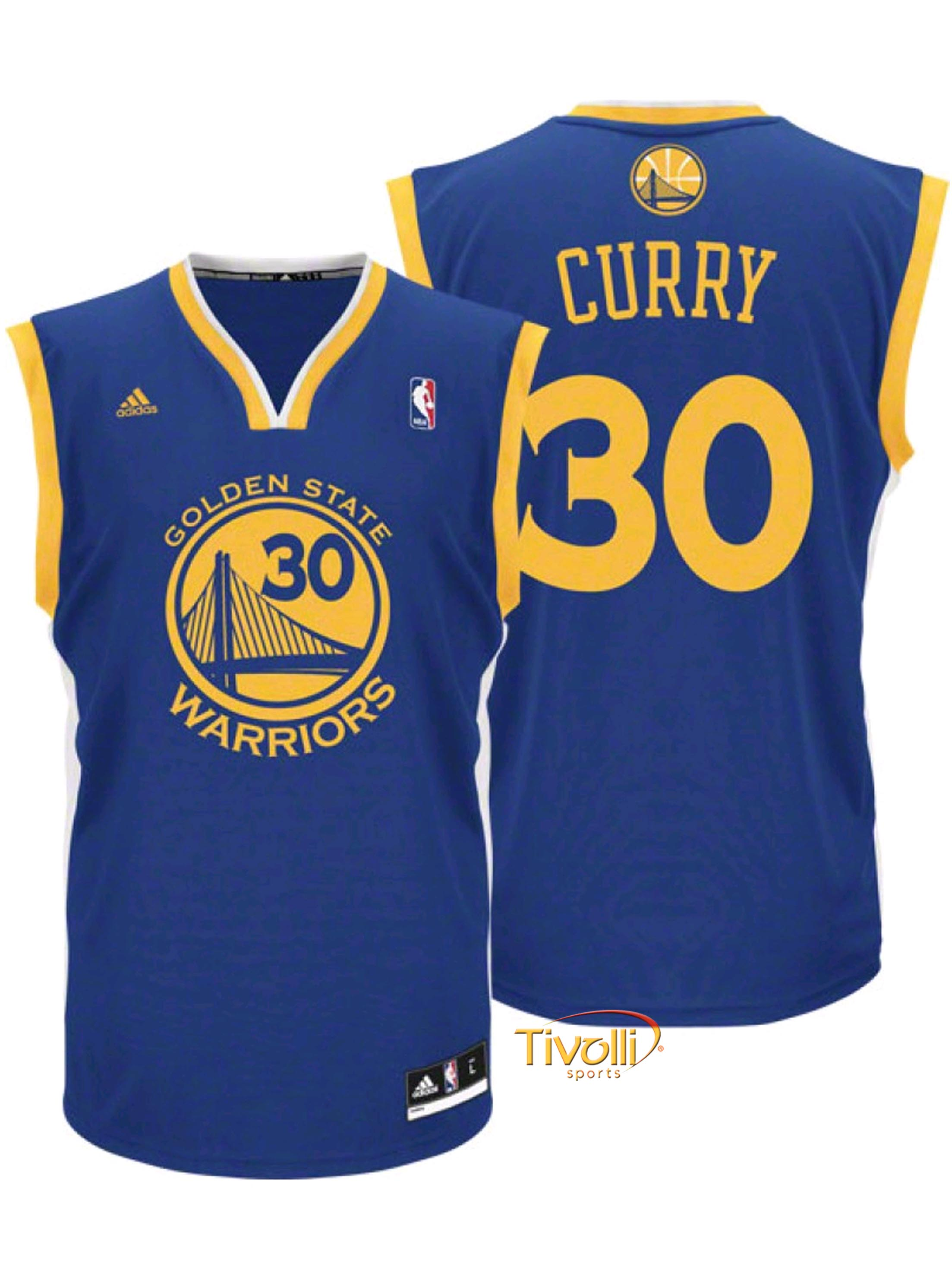 36ce8f10666d Regata Adidas NBA Golden State Warriors - Stephen Curry   Azul ...