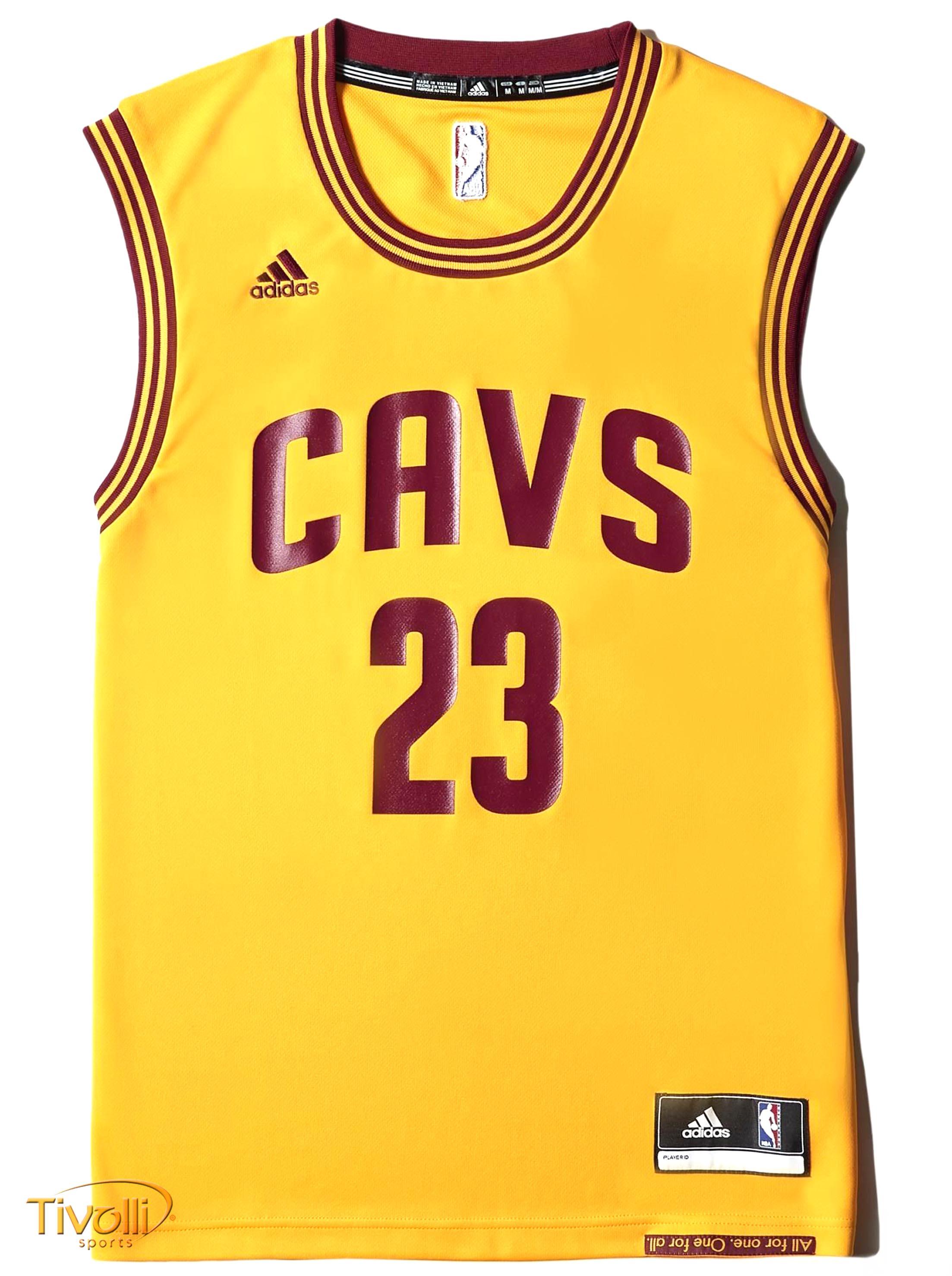 cruzar Rebajar papel  Regata Adidas NBA Cavaliers Alternate - Lebron James > Amarela e Vinho >