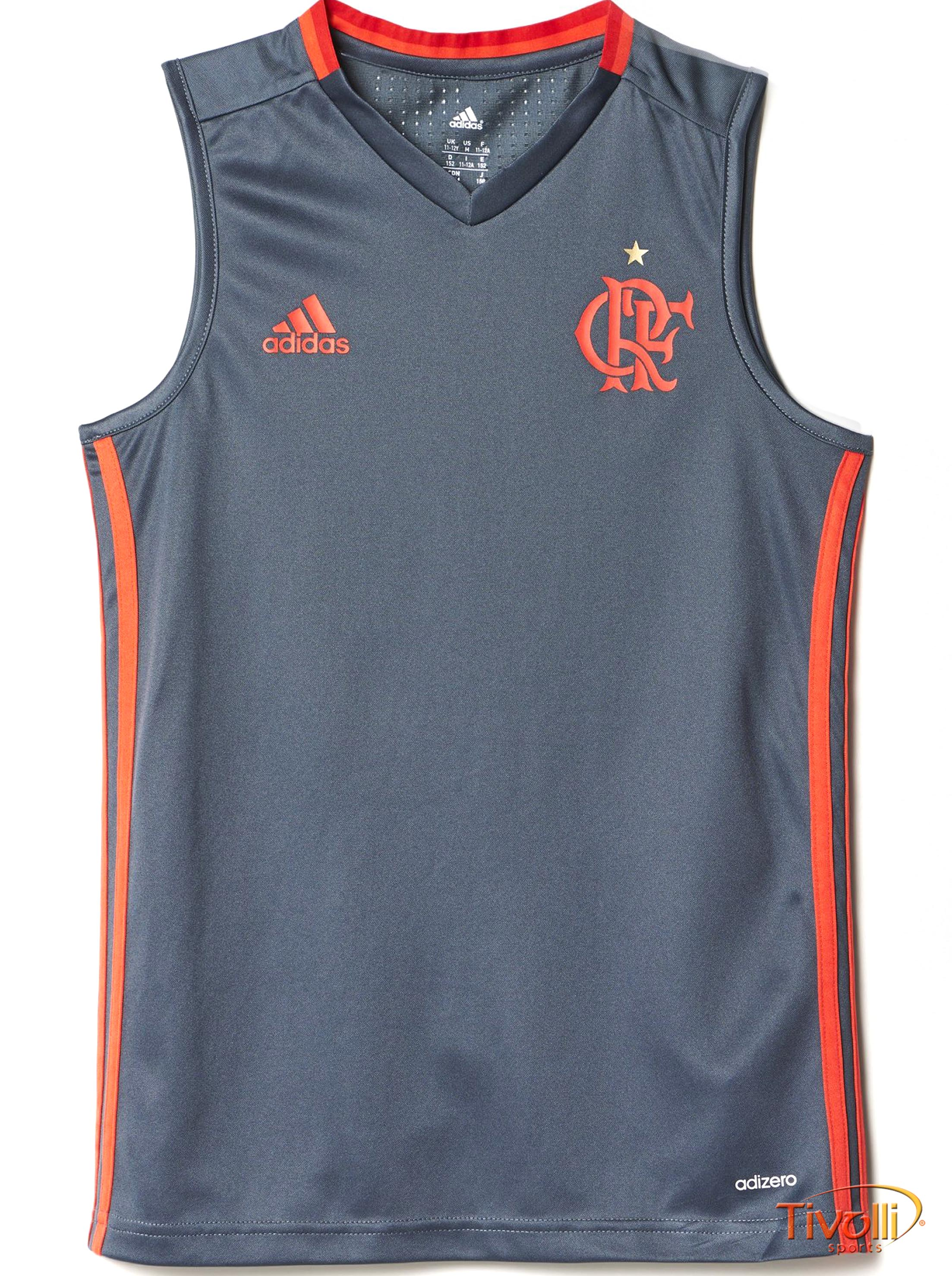 Regata Treino Flamengo Infantil Adidas     15dbaa08d900f