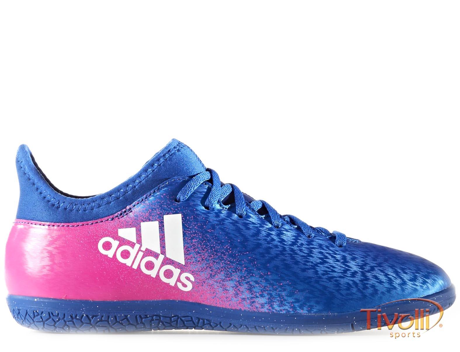 c341e9e6d7001 Chuteira Adidas Infantil X 16.3 IC Futsal