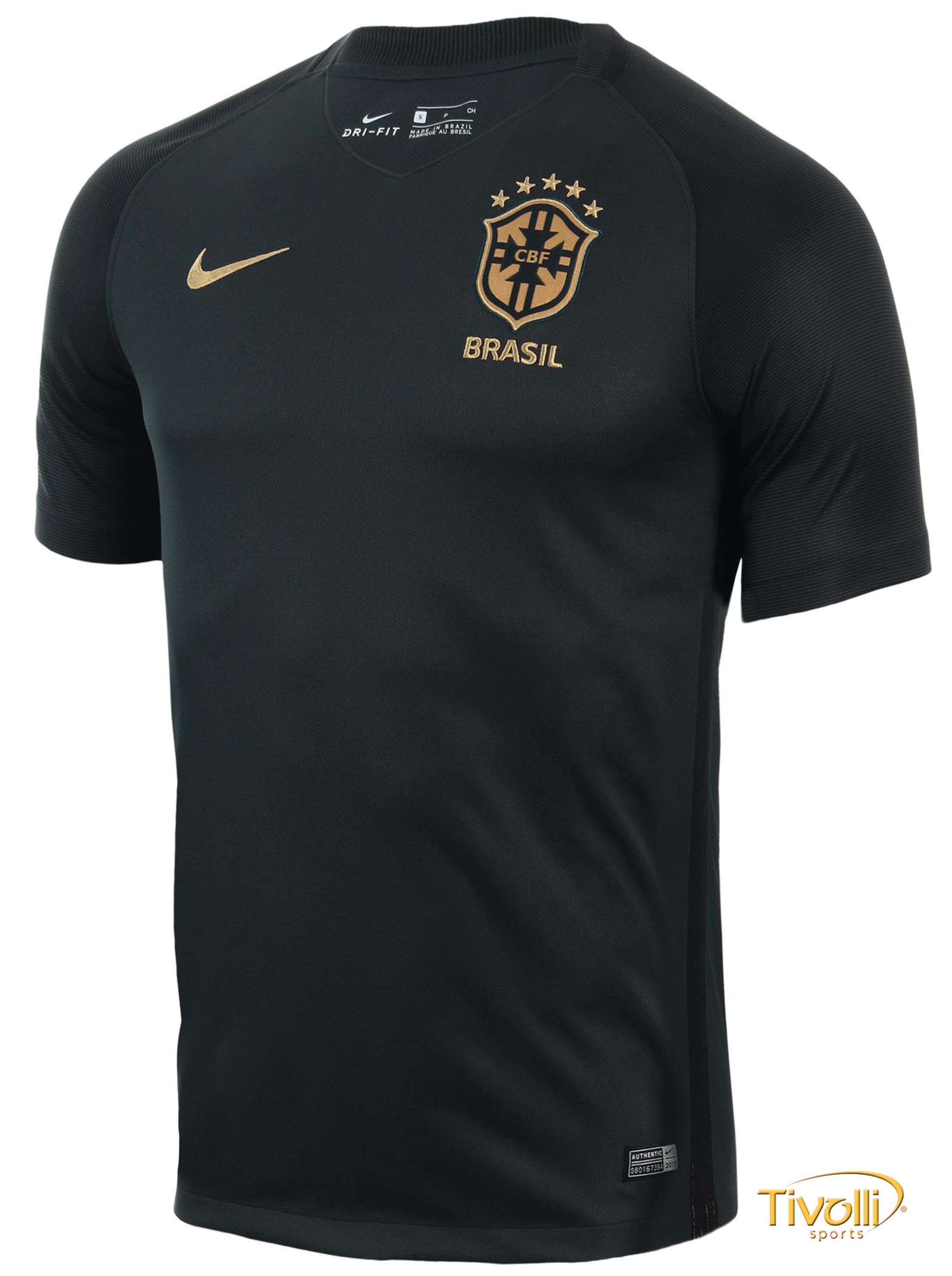ce6adcb157a56 Camisa Brasil CBF III Torcedor Nike 17 2018   Masculina