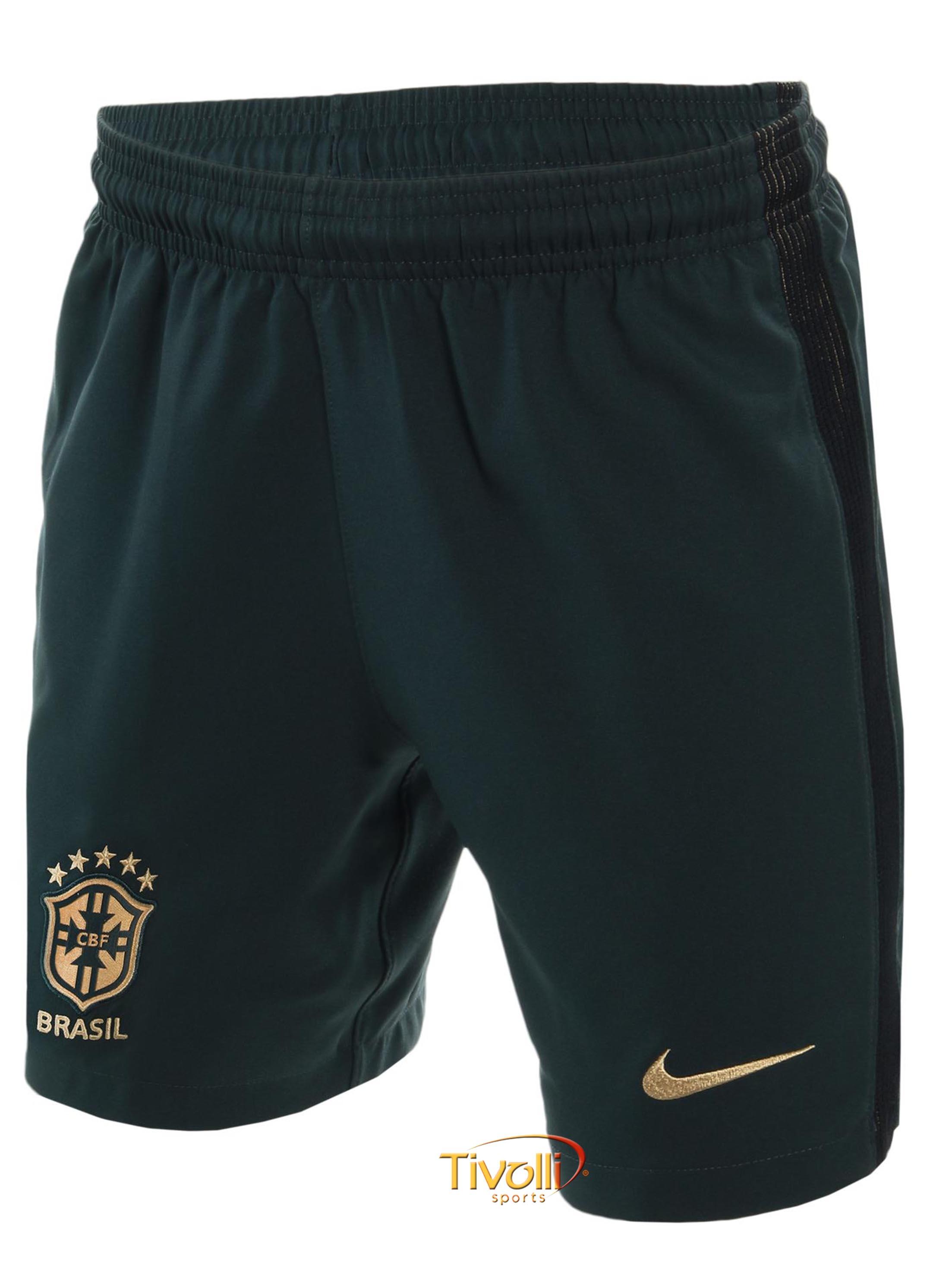 Shorts Brasil CBF III Torcedor 17 2018 Infantil Nike     6dc2dd5a61940