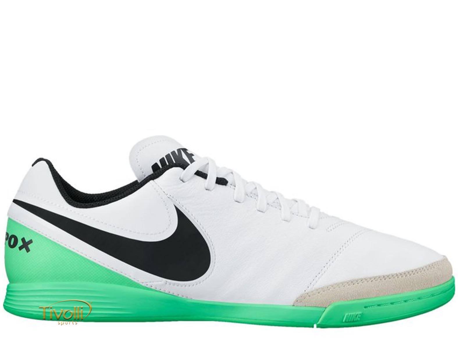 Chuteira Nike TiempoX Genio II Leather IC Futsal     a82fce05b8121