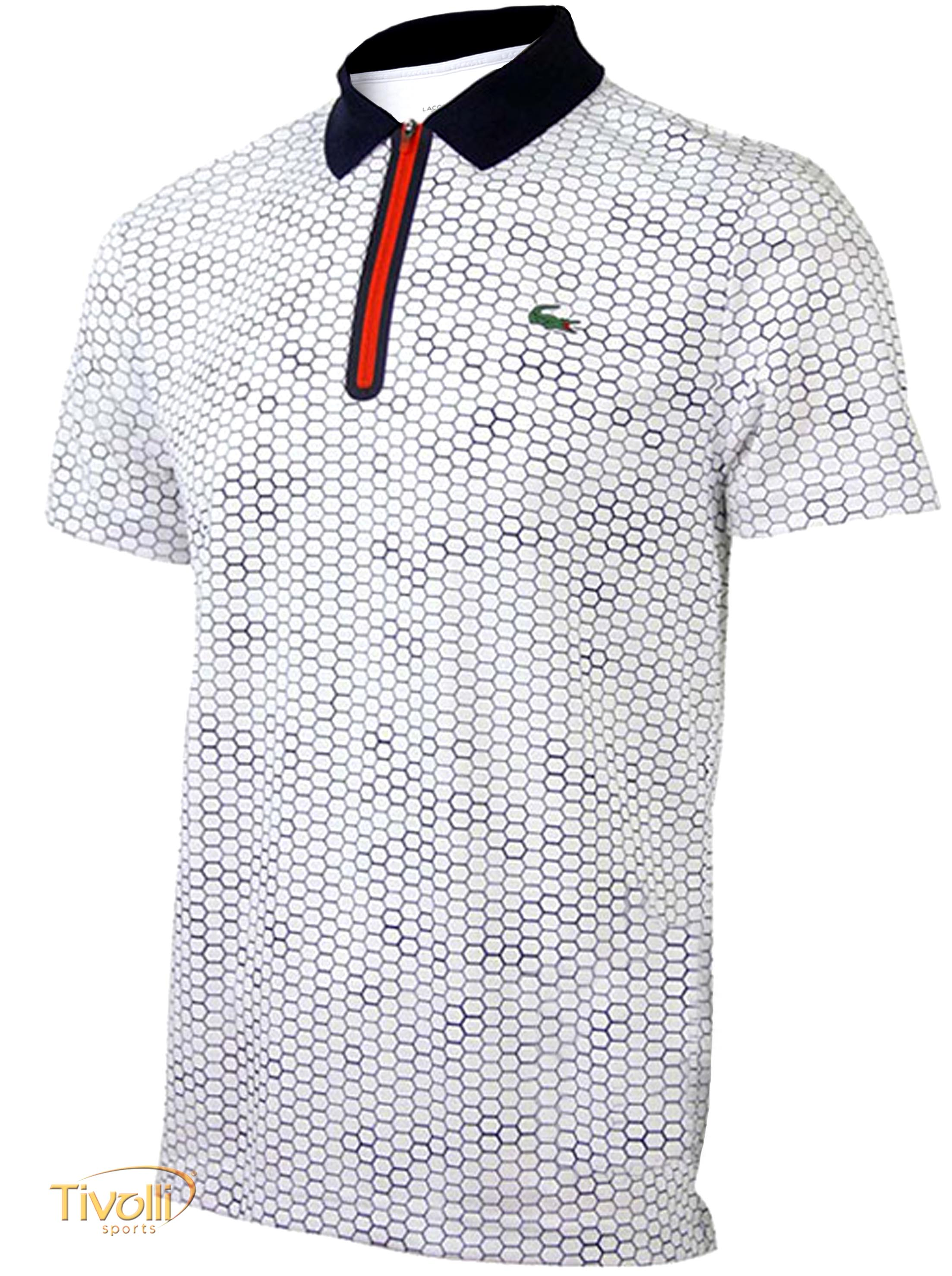 Camisa Polo Lacoste Ultra Dry Fancy 1 > Branca, Azul
