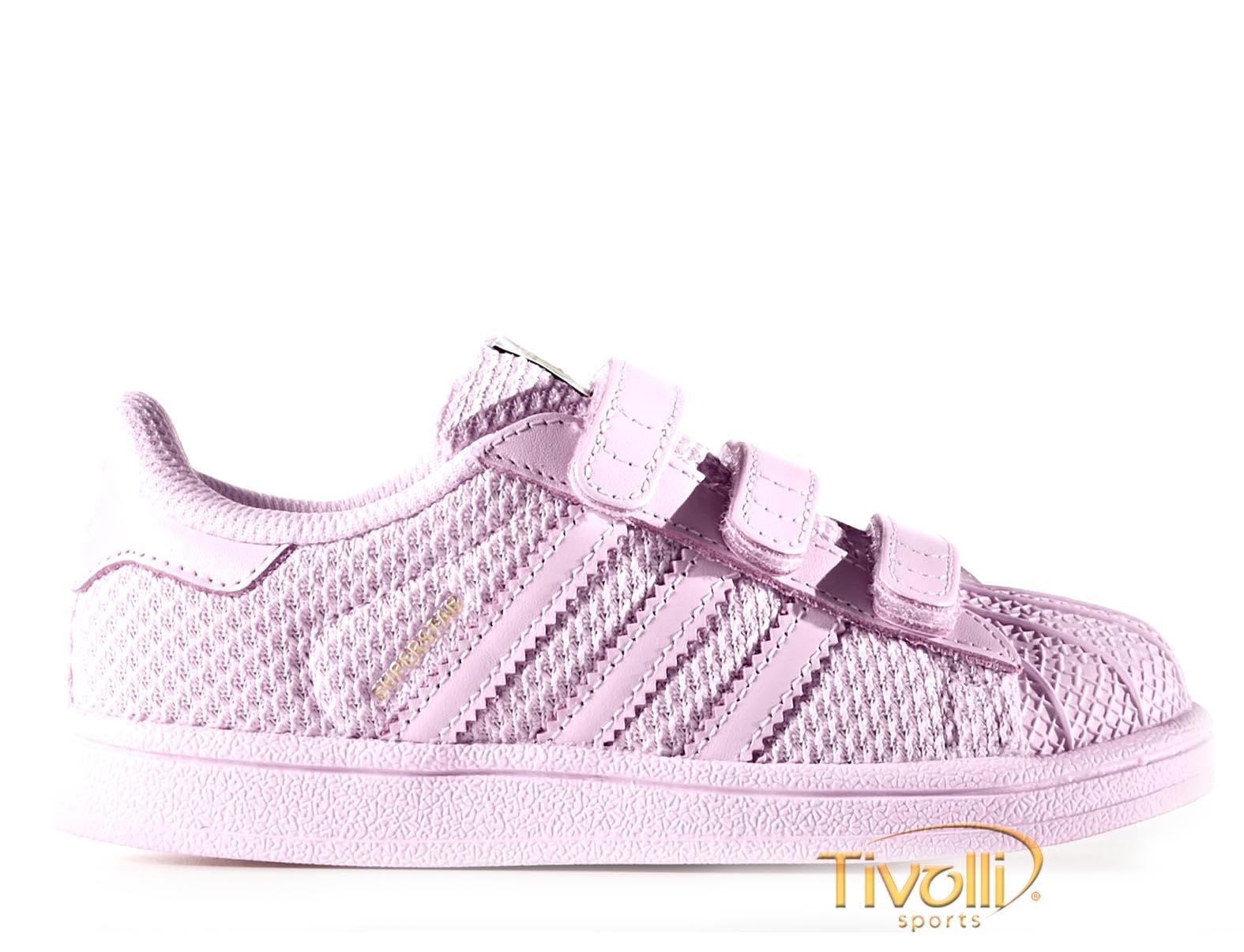 3b70137f92 Tênis Adidas Superstar CF I Infantil Tam 19 Ao 25. Tênis Adidas Infantil  Originals Superstar Cf Bz0416 ...