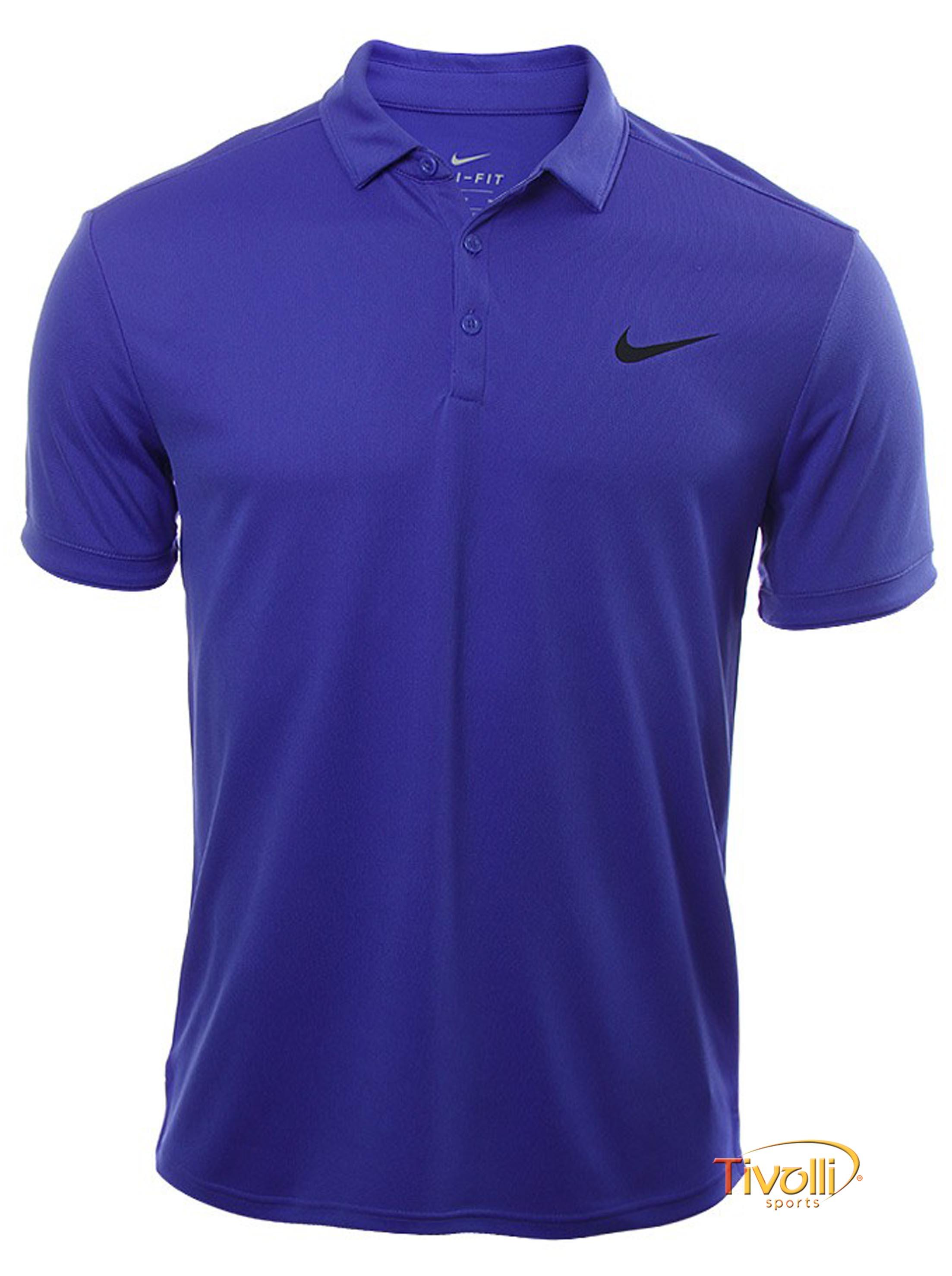 078981f259 Camisa Polo Nike Court Dry   Azul