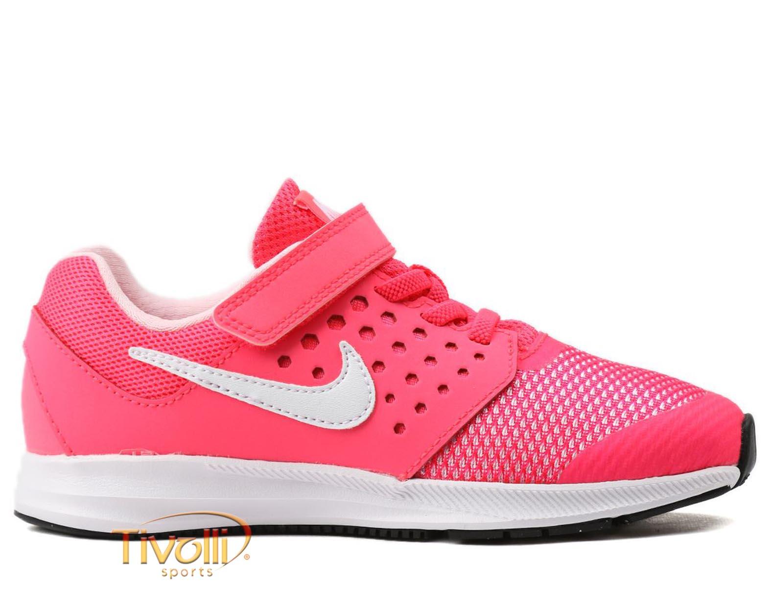 1c033d8d773 Tênis Nike Downshifter 7 (PSV) Infantil   tam. 27 ao 33 Rosa e Branco