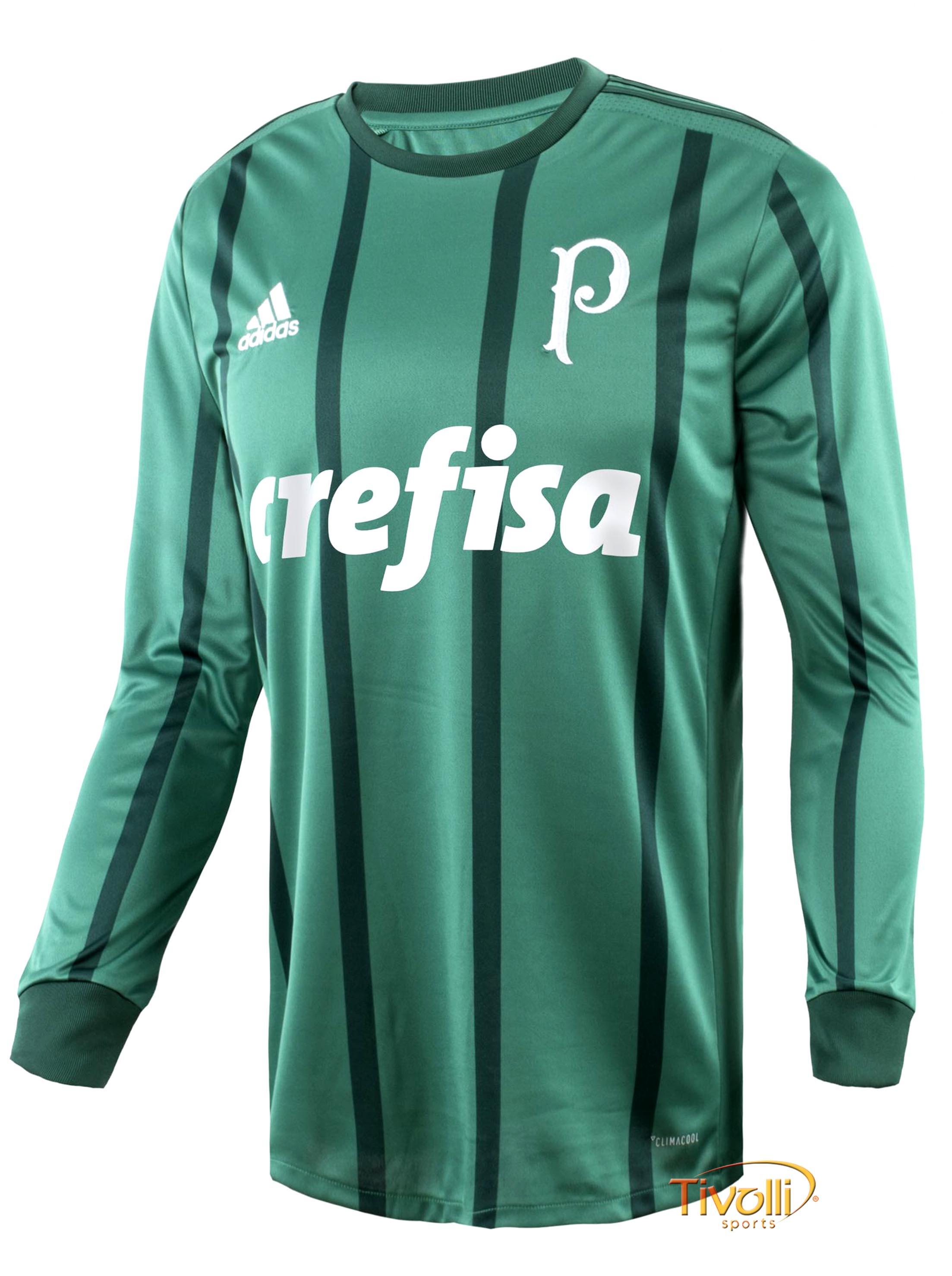 Camisa Palmeiras Manga Longa I 2017 Adidas Masculina   - Mega Saldão   56d37c2ca18a3