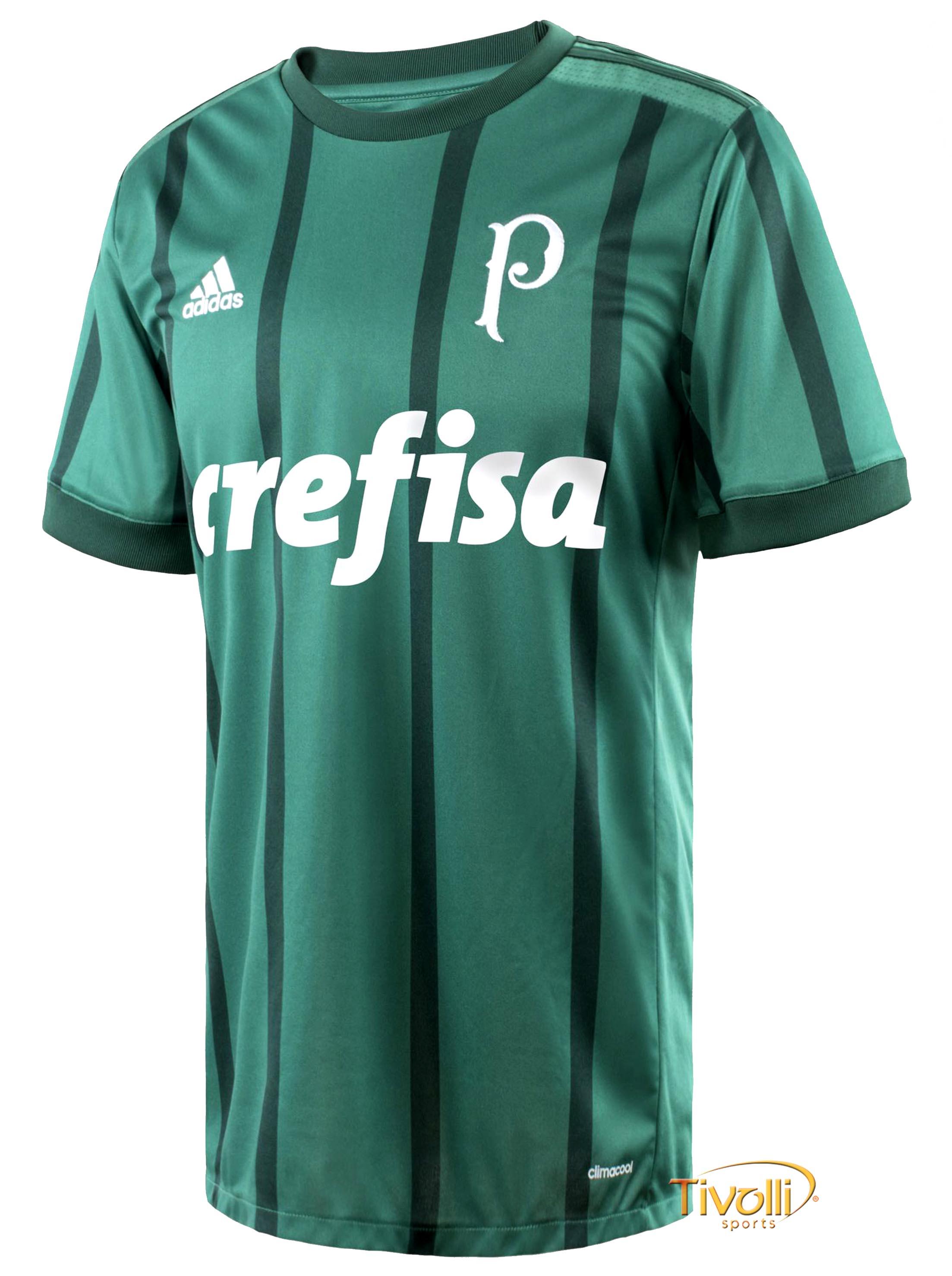 6ebe8082b9 Camisa Palmeiras I 2017 Adidas Infantil