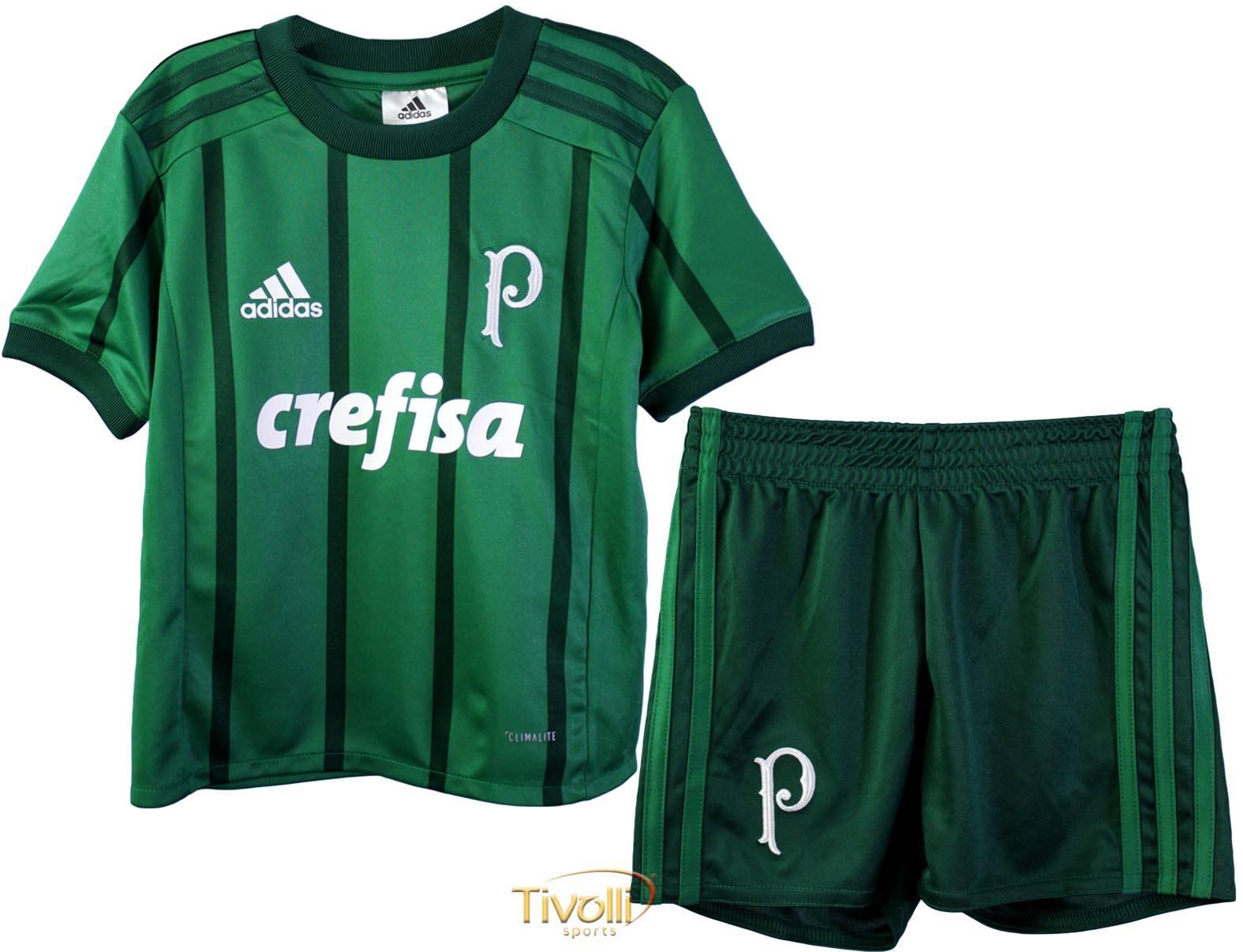 7d52d24217 Mini Kit Palmeiras I 2017 Infantil Adidas