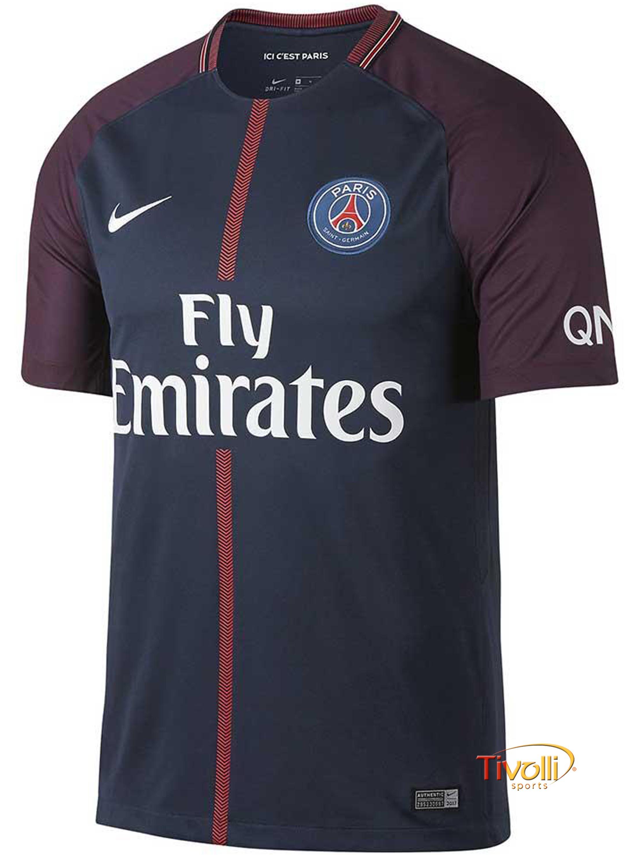 ecc1fc267cb8f Camisa Paris Saint-Germain PSG 2017 2018 I Home Nike   - Mega Saldão